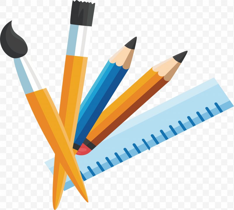 Stationery png x px. Paintbrush clipart 3 pencil