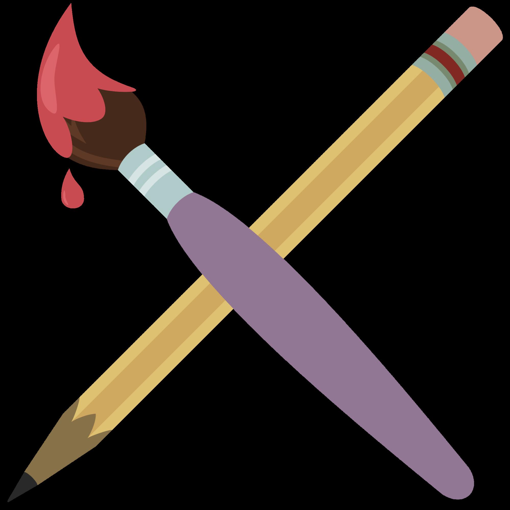 Paintbrush clipart 3 pencil. Images of cutie mark