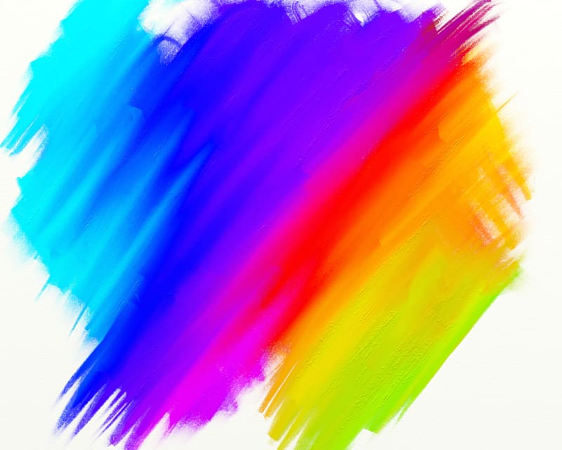 Paintbrush clipart acrylic paint. Yellow red and blue
