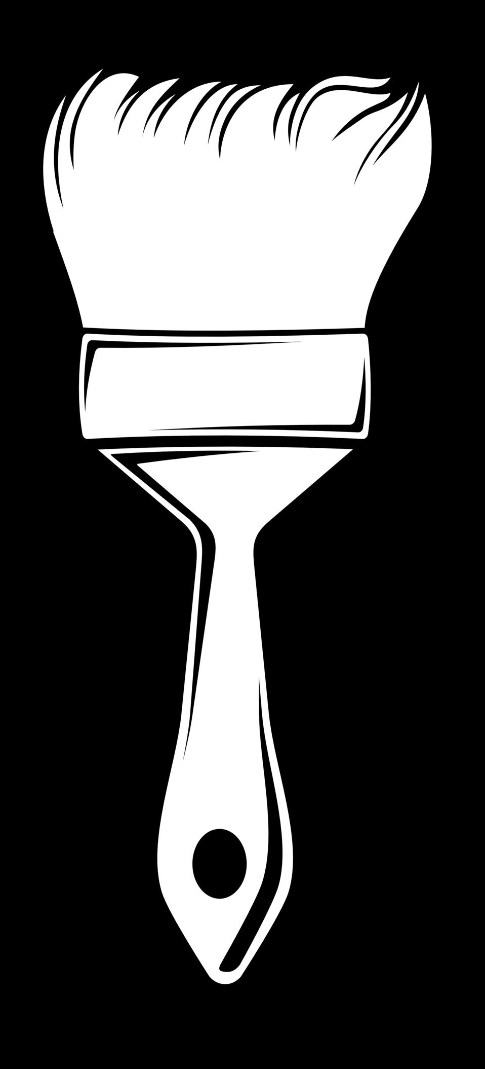 Paintbrush clipart artwork. Public domain clip art
