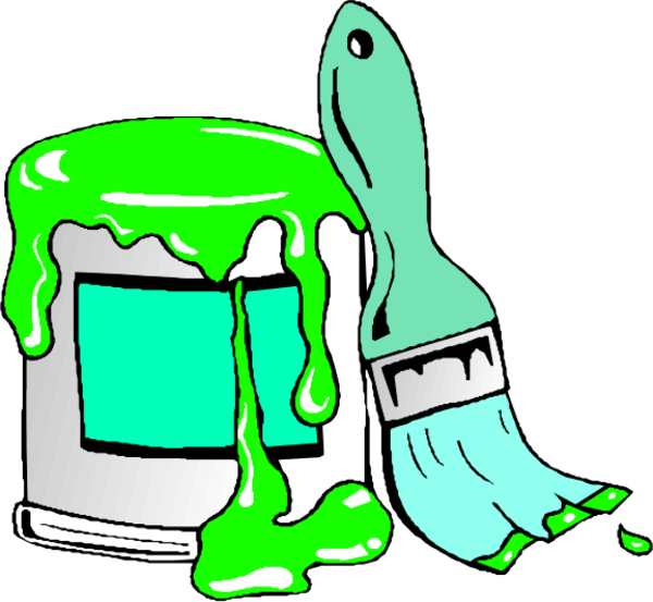 Paint can cliparts free. Paintbrush clipart artwork