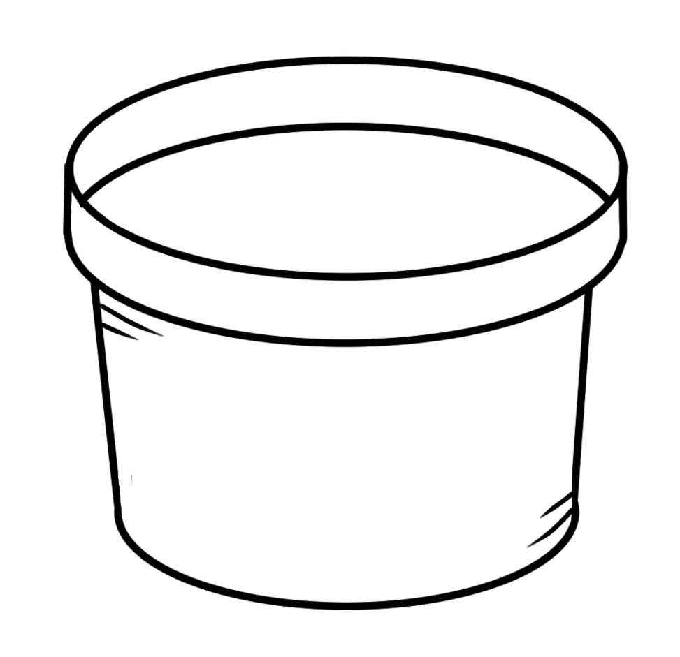 Bucket free download best. Pancake clipart black and white