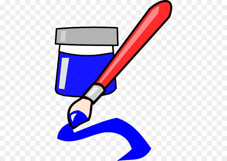 Clip art ink png. Paintbrush clipart blue