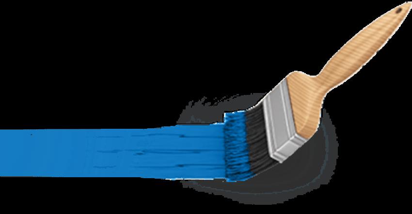 Clip art paint transprent. Paintbrush clipart blue