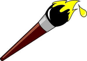 Paintbrush clipart cartoon. Image loaded with