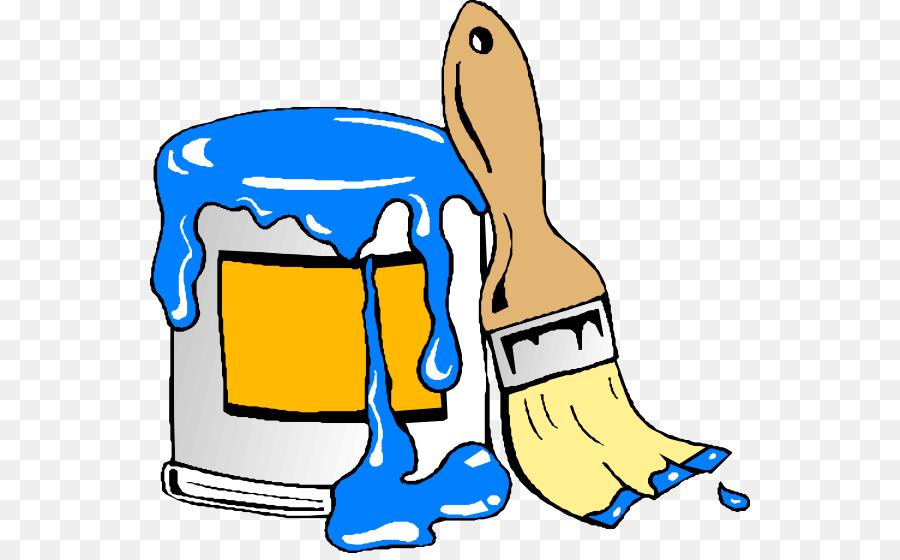 Paint brush . Paintbrush clipart cartoon