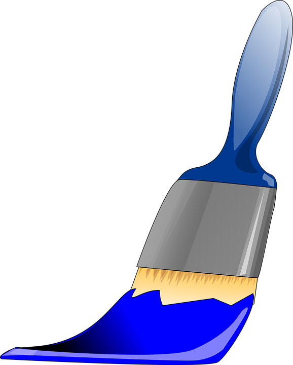 Paint blue free collection. Paintbrush clipart cute