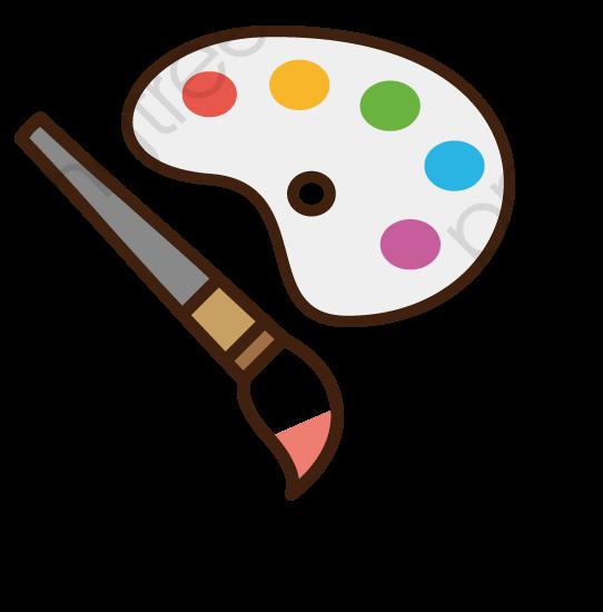 Paint brush png transparent. Paintbrush clipart cute