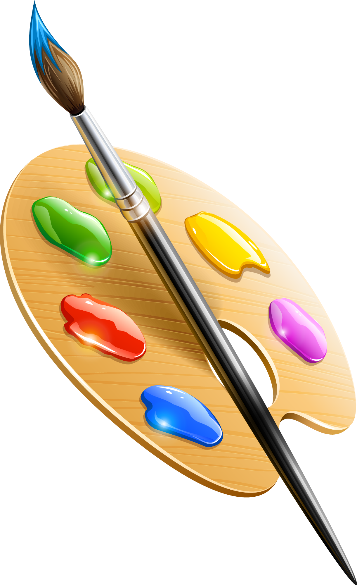 Paintbrush clipart drawn.  collection of drawing