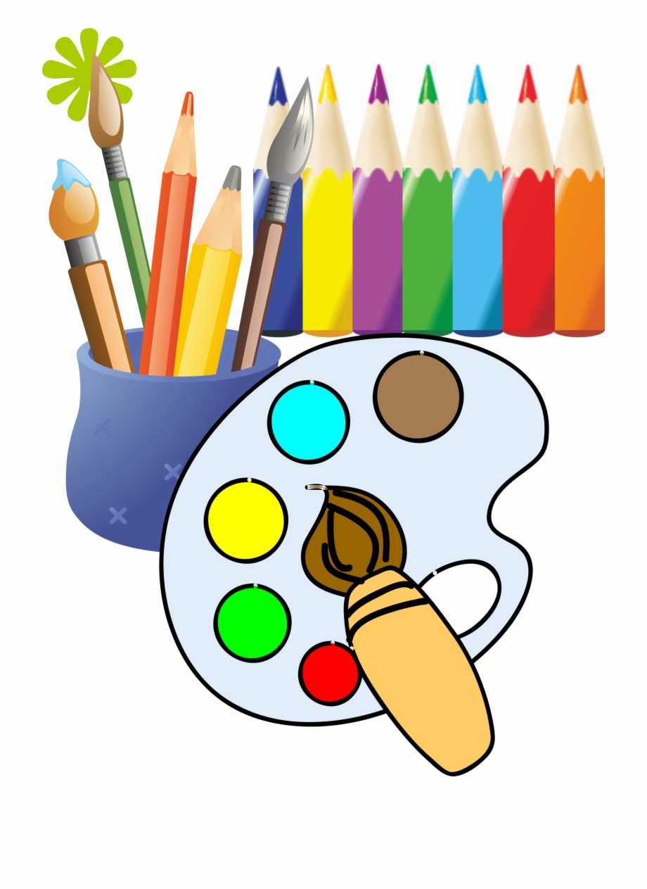 Painting drawing clip art. Paintbrush clipart drawn