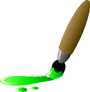 Paintbrush clipart green paintbrush. Paint brush clip art