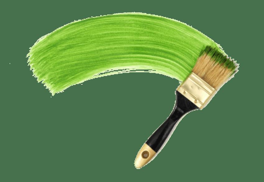Paintbrush clipart green paintbrush. Line paint brush png