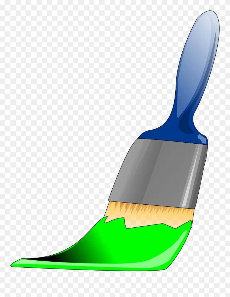 Paintbrush clipart green paintbrush. Paint brush png image