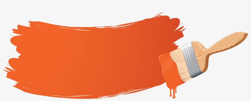 Paintbrush clipart orange. Free download paint brush