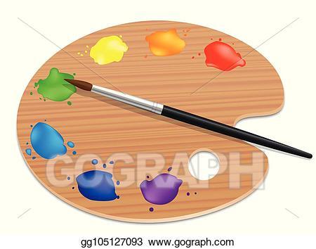 Vector art palette artists. Paintbrush clipart paint board