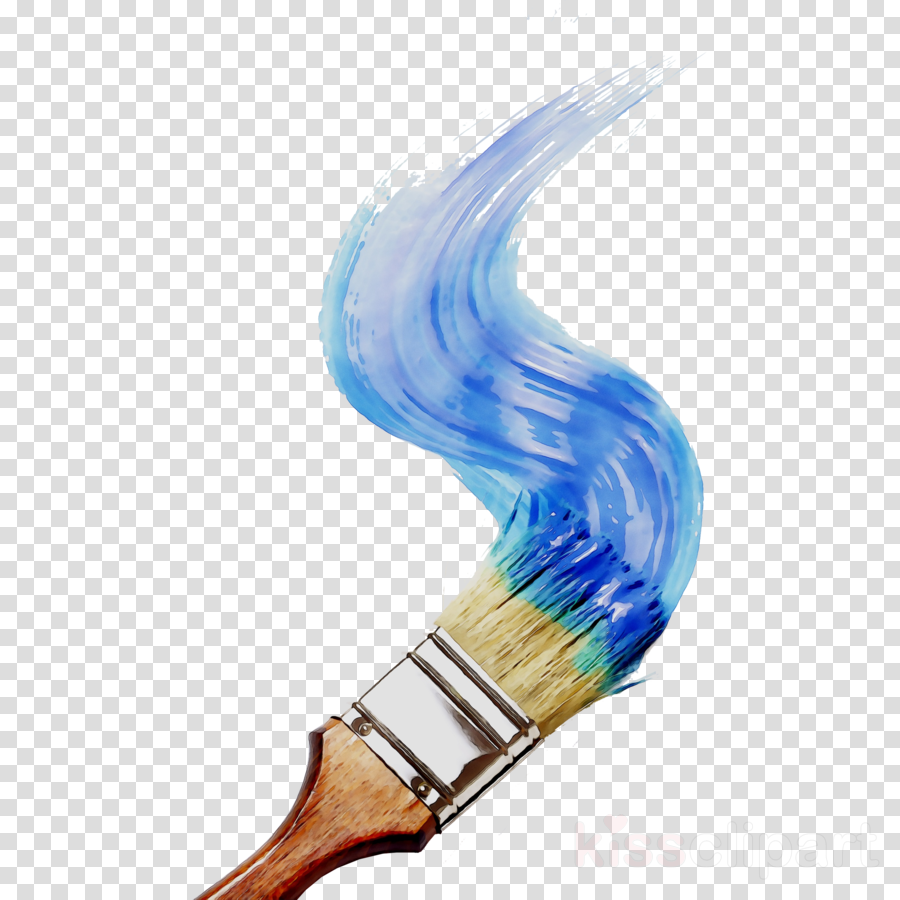 Brush cartoon painting . Paintbrush clipart paint bottle