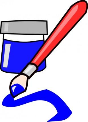 Free clip download art. Paintbrush clipart paint bottle