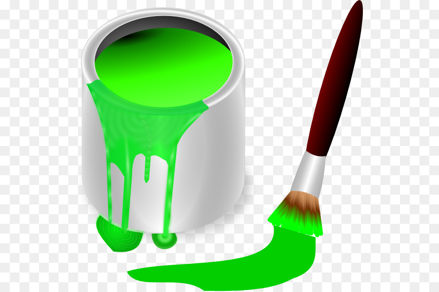 Brush cartoon png download. Paintbrush clipart paint can