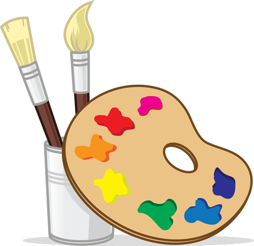 The pottery factory paint. Paintbrush clipart painting ceramic