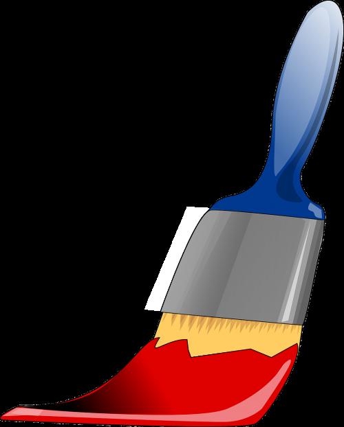 Palette paints colors mixing. Paintbrush clipart painting ceramic