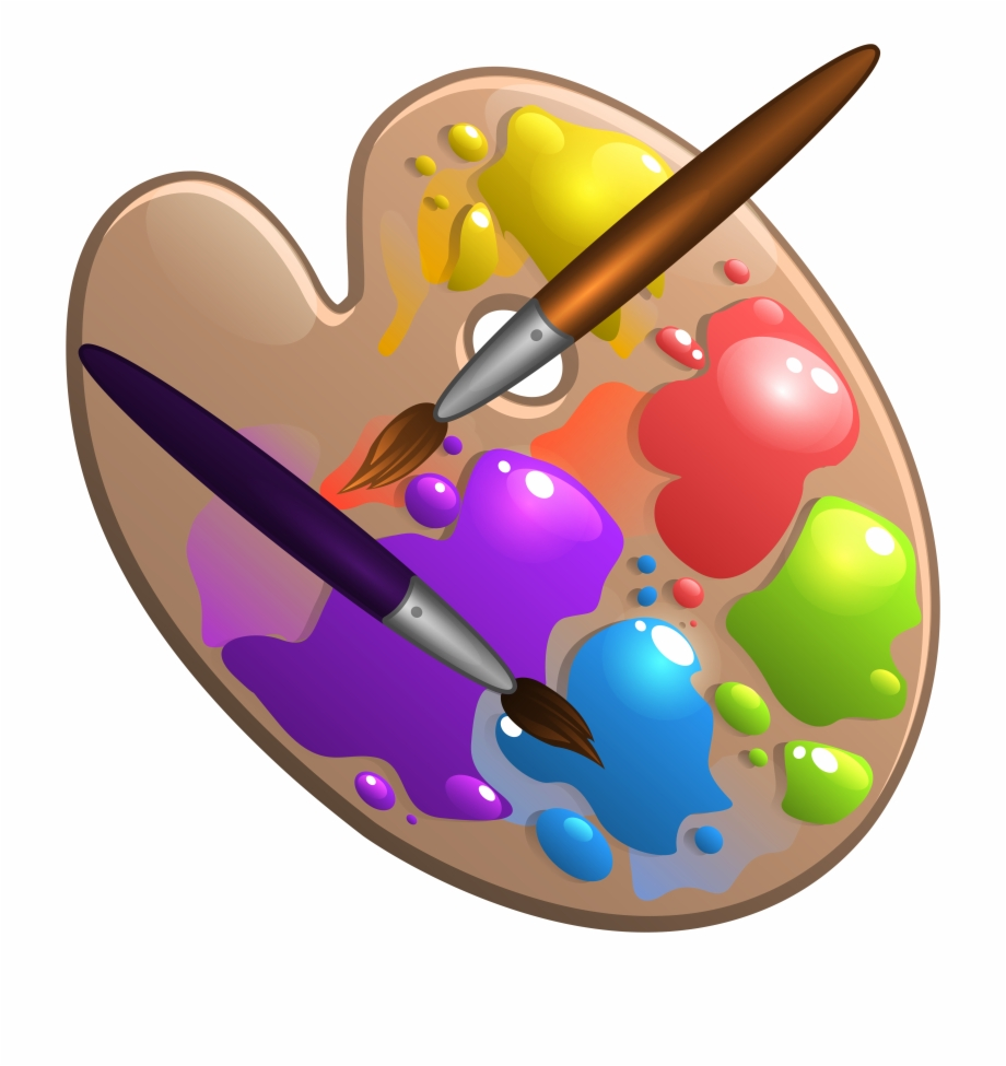 Clip art free library. Paintbrush clipart painting ceramic