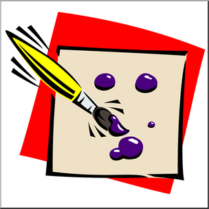 Paint brush x free. Paintbrush clipart painting material