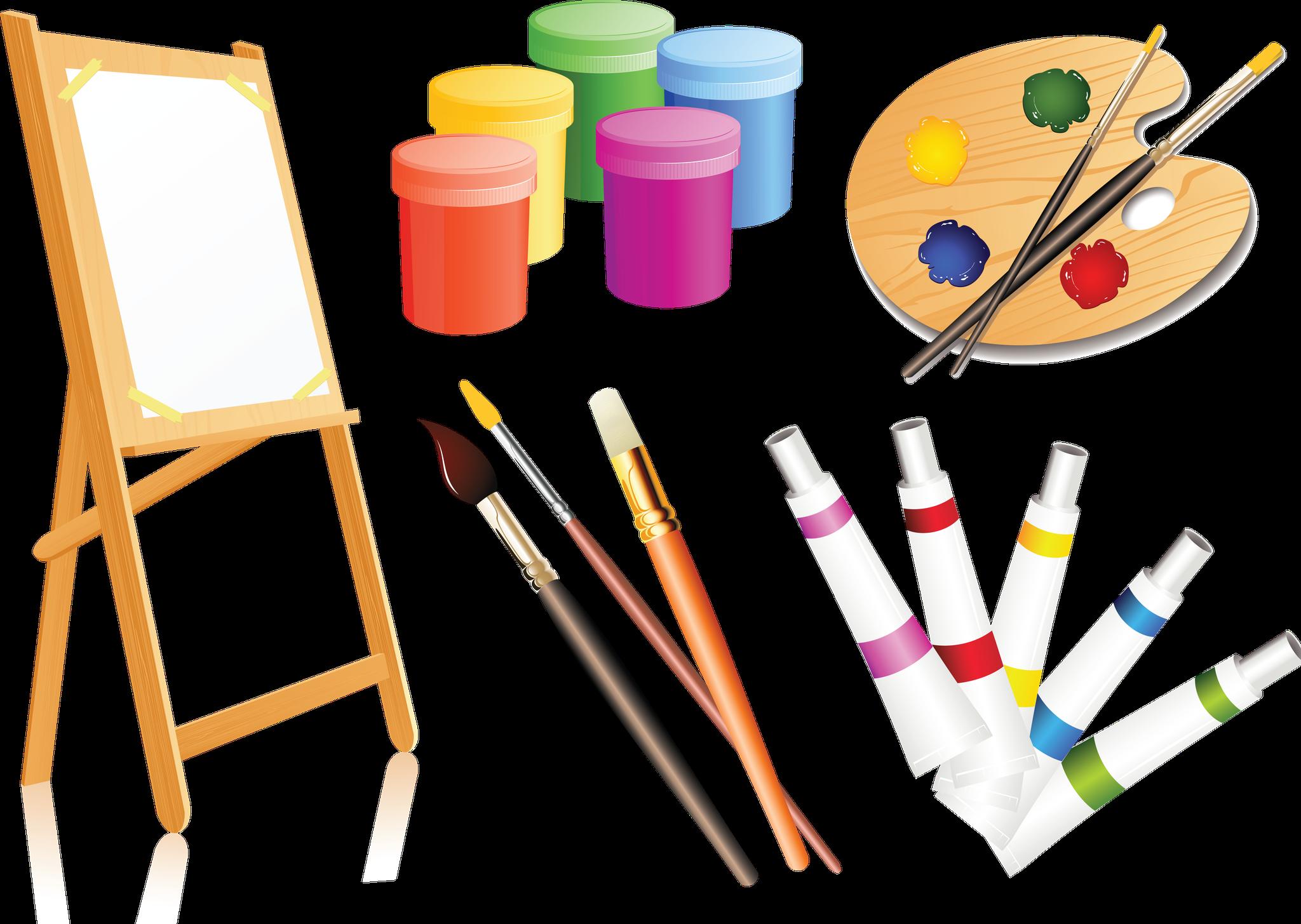 Palette clip art paint. Paintbrush clipart painting material