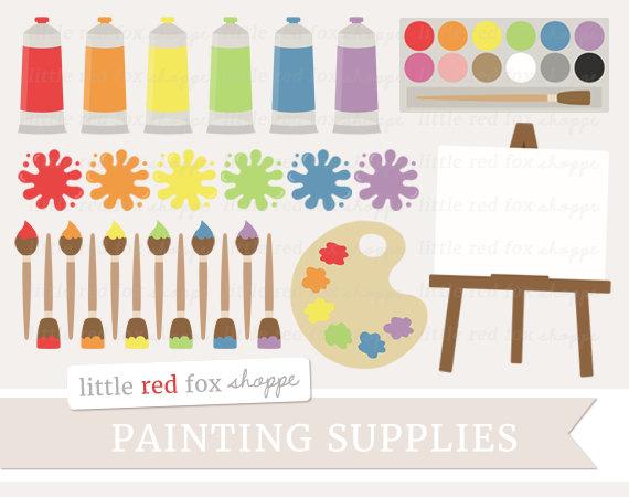 Paint supplies clip art. Paintbrush clipart painting material