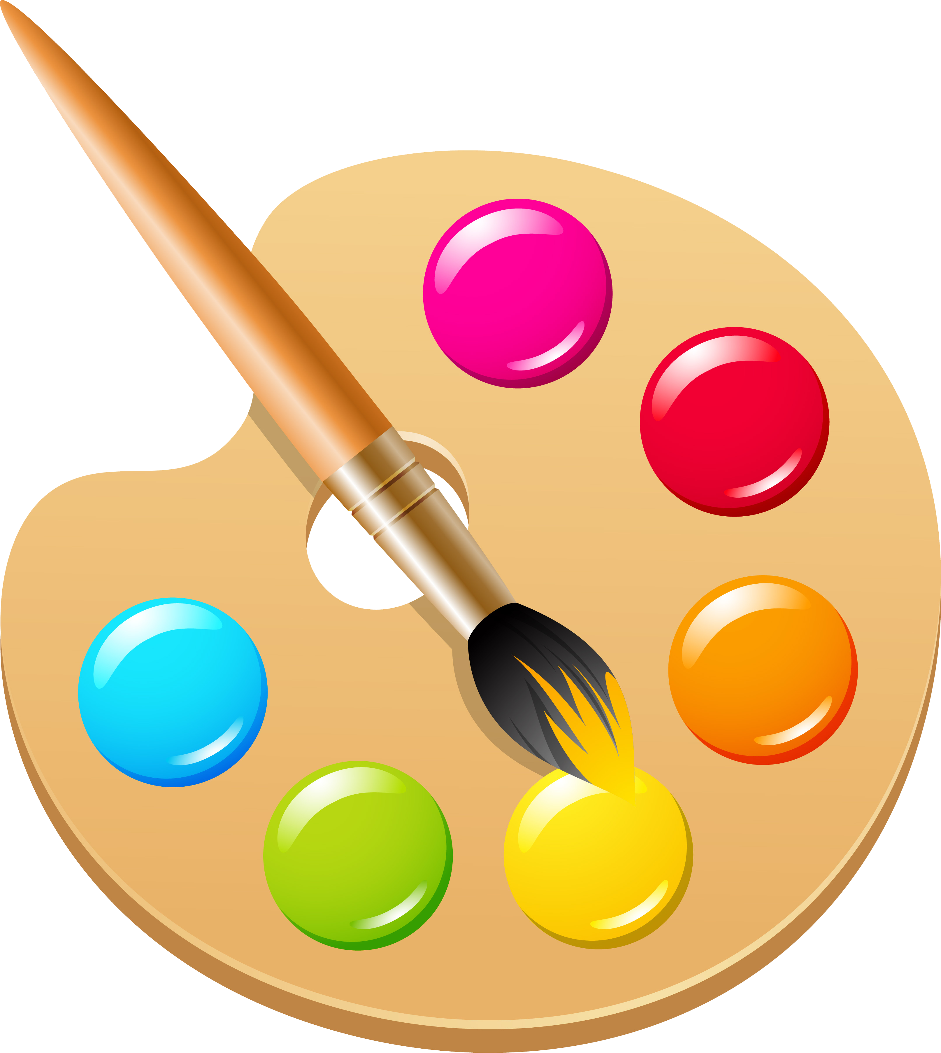 Paintbrush clipart painting material. Pigment color ink brush