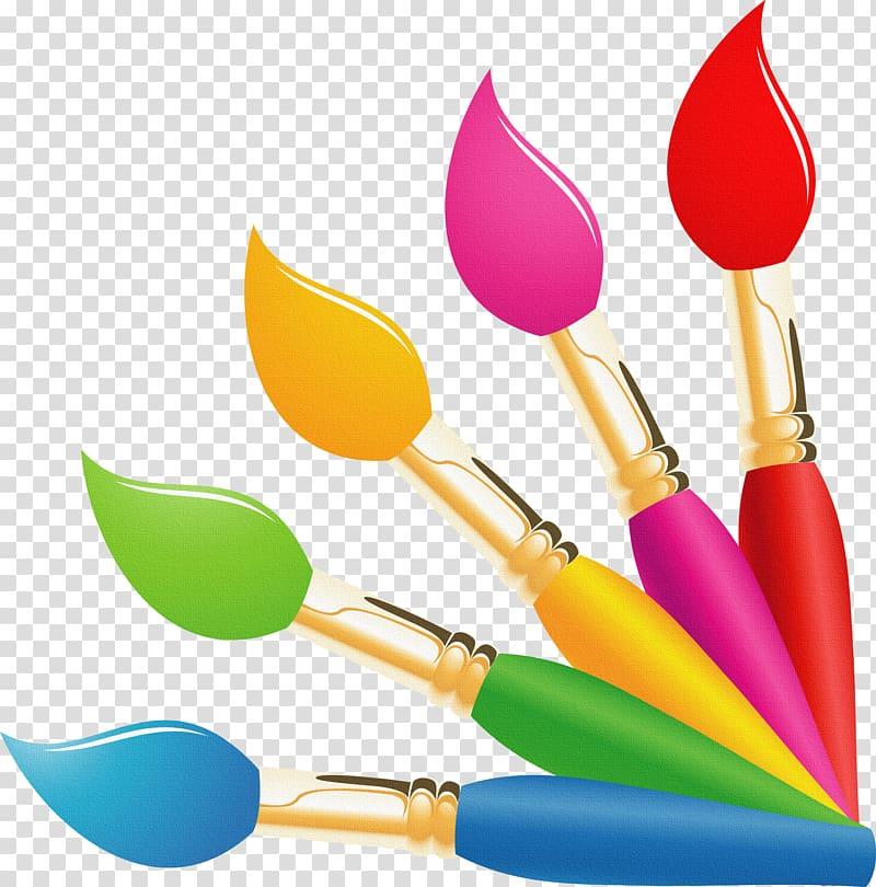 Paintbrushes illustration oil paint. Paintbrush clipart painting