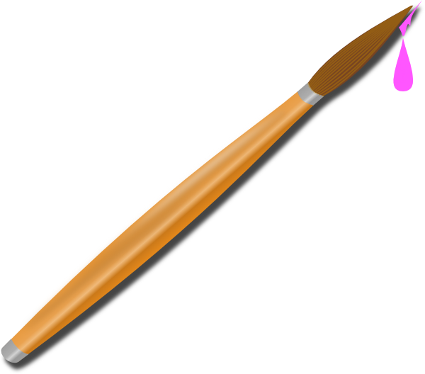Paintbrush clipart pink. Clip art at clker
