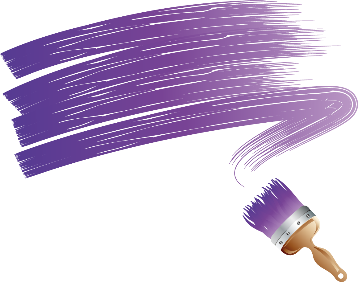 Purple clipart brush stroke. Paintbrush painting clip art