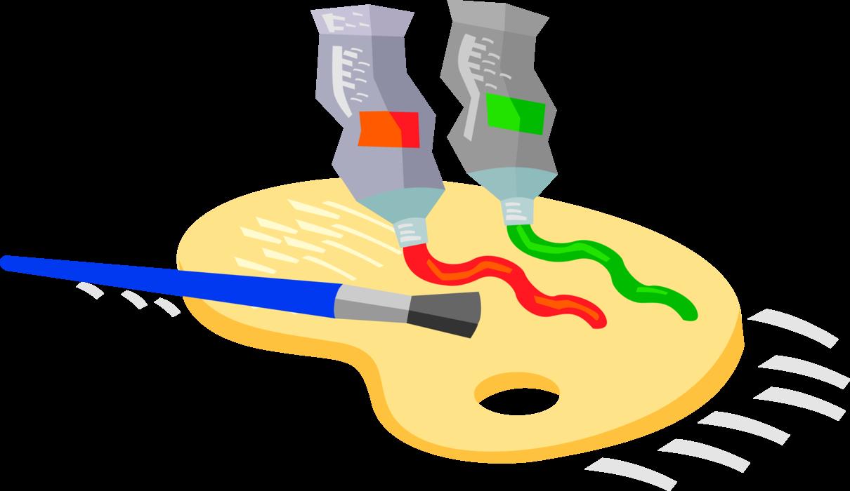 Paintbrush clipart visual art. Artist s tubes of