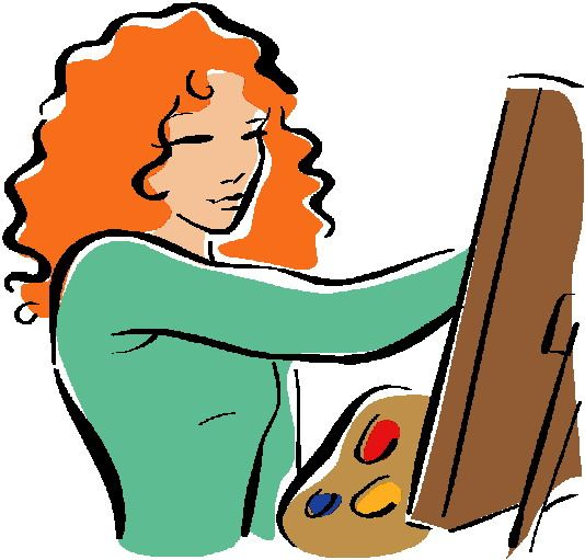 Painter clipart. House free images cartoon