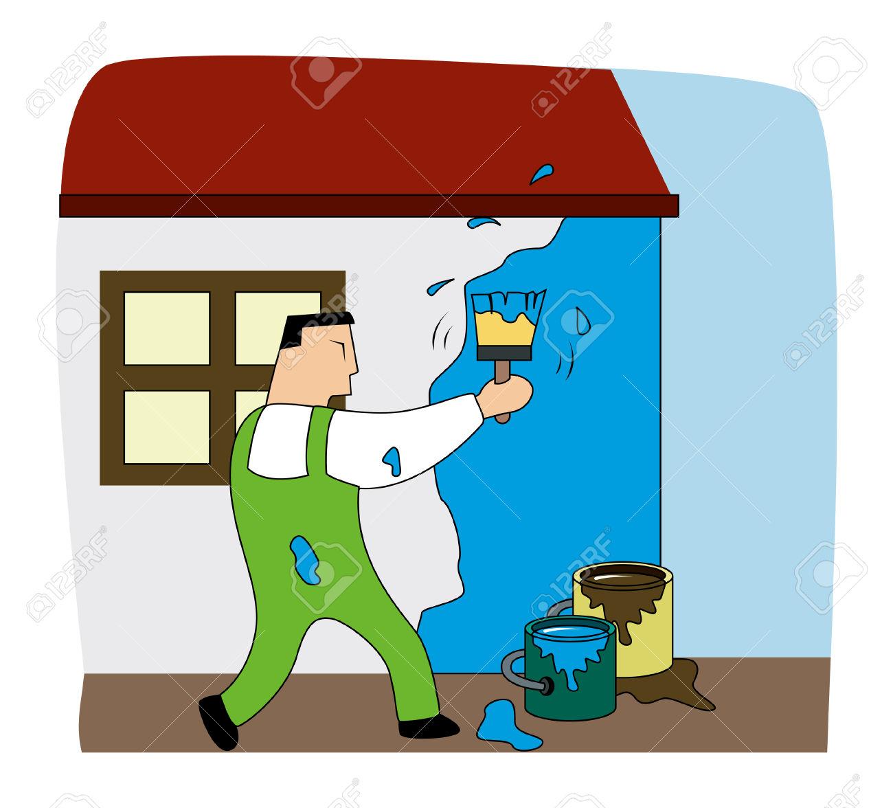 Painter clipart. House images clip paint