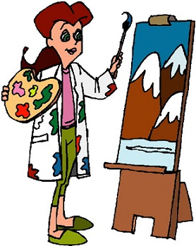 Artist painting at paintingvalley. Painter clipart artisit