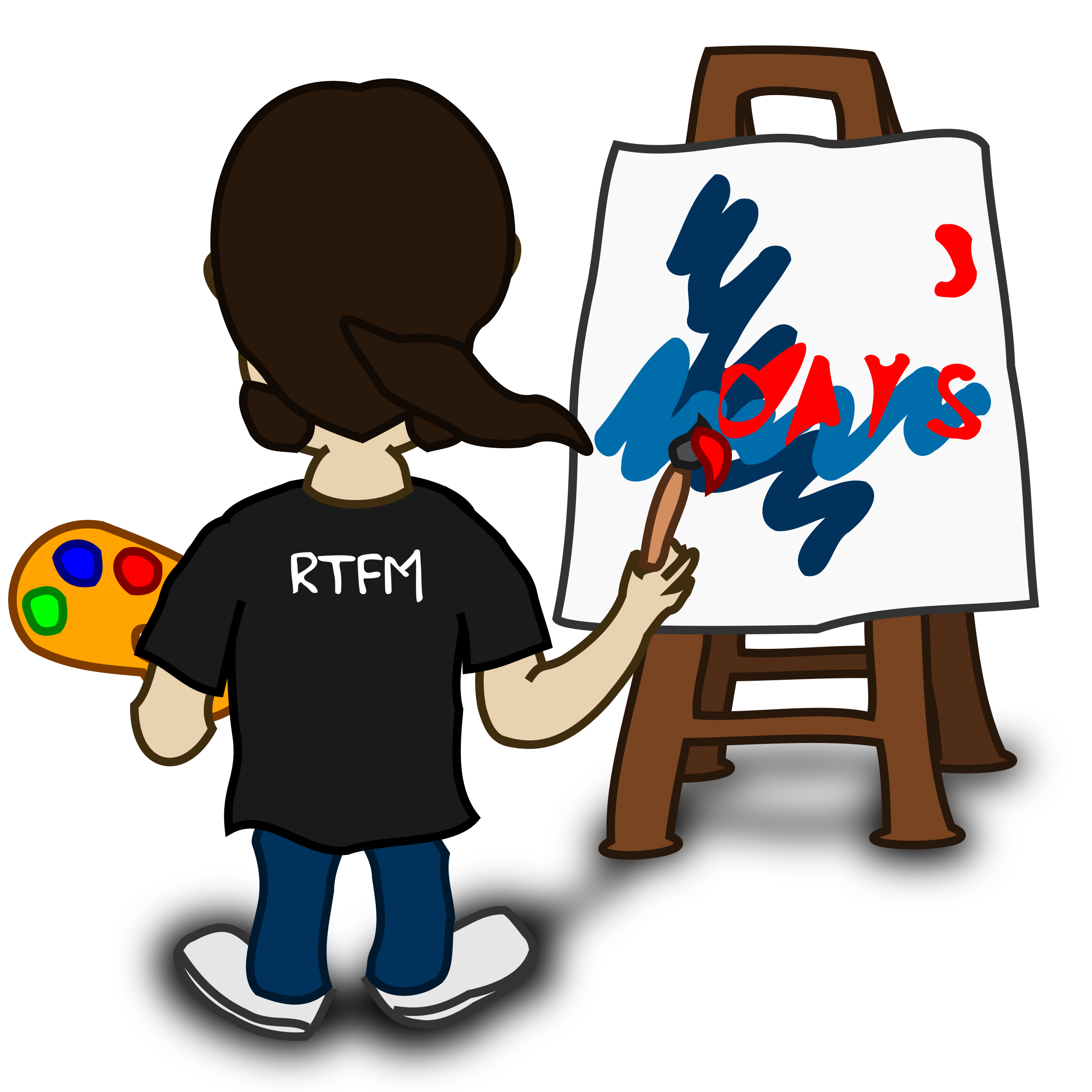 Painter clipart boy. Comic characters big image