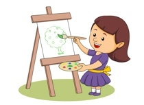 Painter clipart girl painting. Paintings search result at