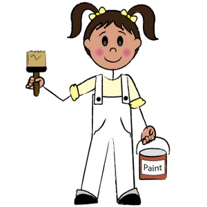 Painter clipart girl painting. Free paint cliparts download