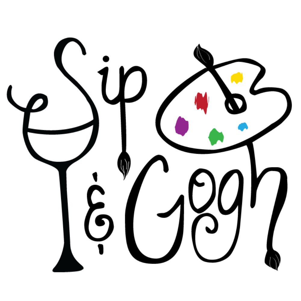 Painter clipart painting class. Sip gogh about the