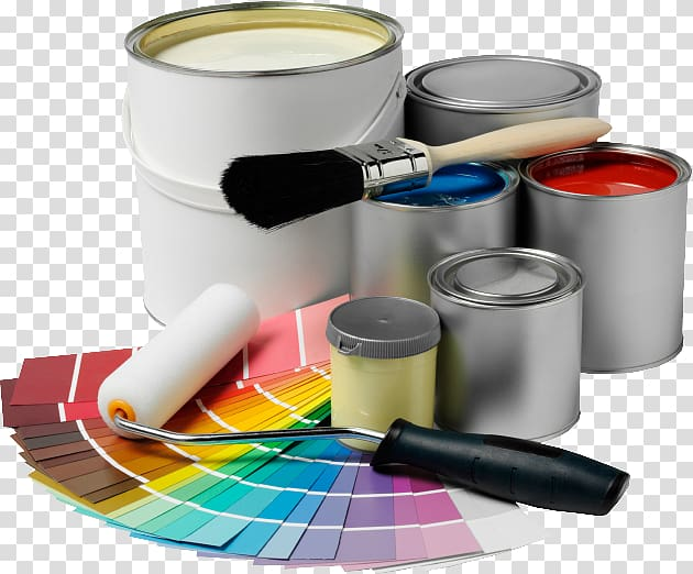 Painter clipart painting material. House and decorator interior