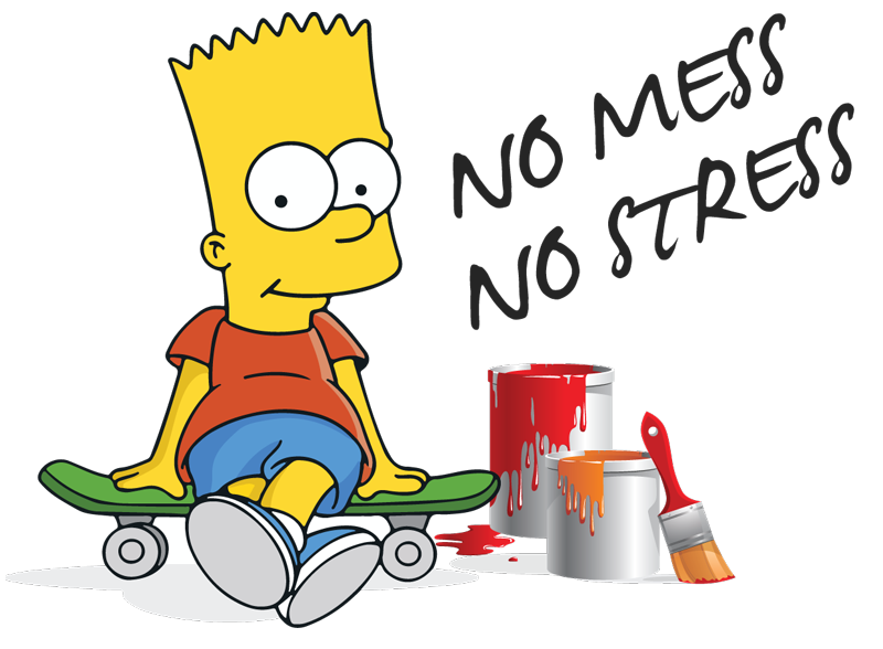Painter clipart profession. Bart the professional painting