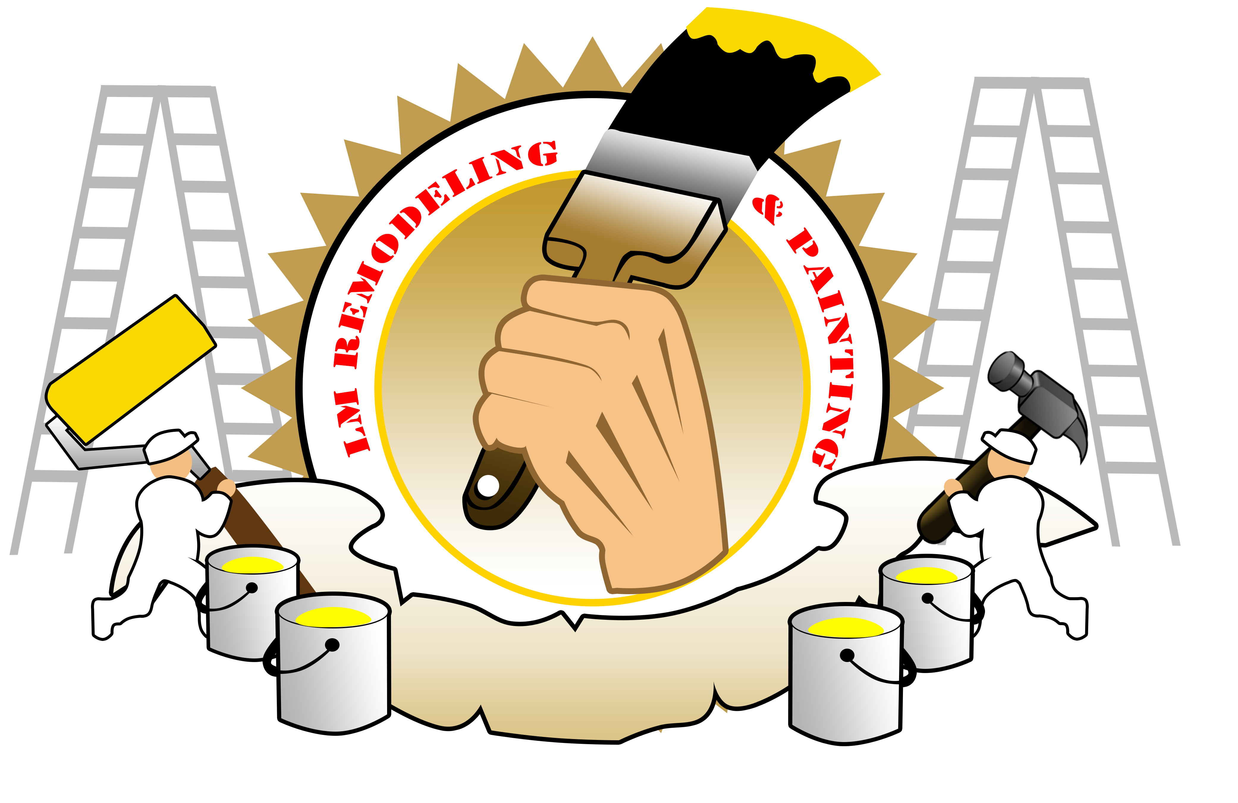 Lm remodeling and painting. Painter clipart remodel