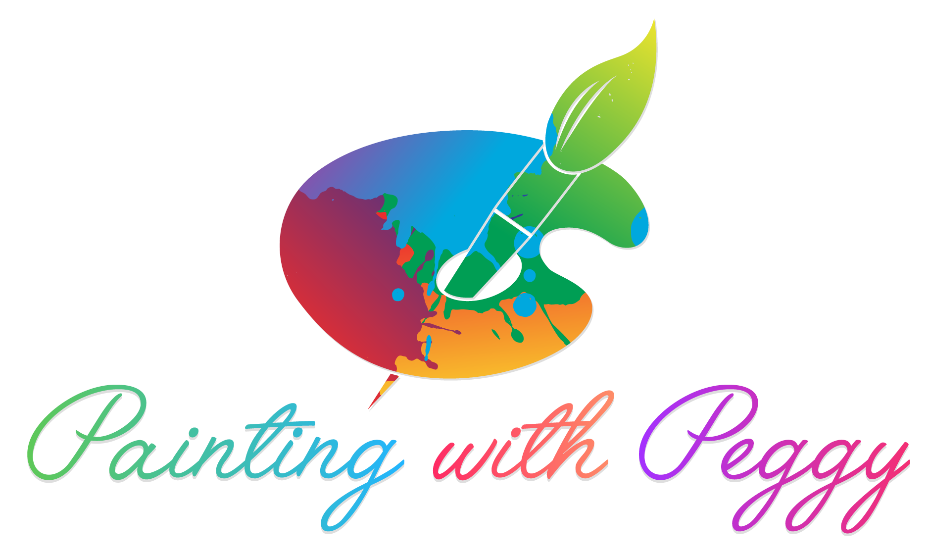 Painter clipart wet paint. Painting with peggy lupo