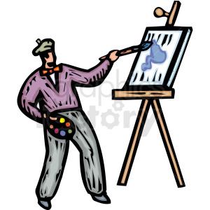 Artist clipart painter. An painting a work