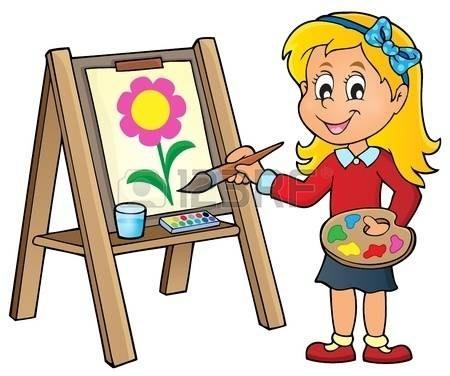 Painter clipart ceramic painting. Girl animehana com