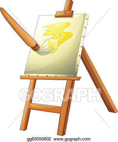 Vector stock a illustration. Painting clipart painting board