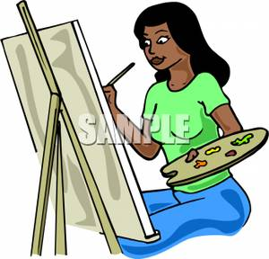 Painting clipart woman painting. Panda free images