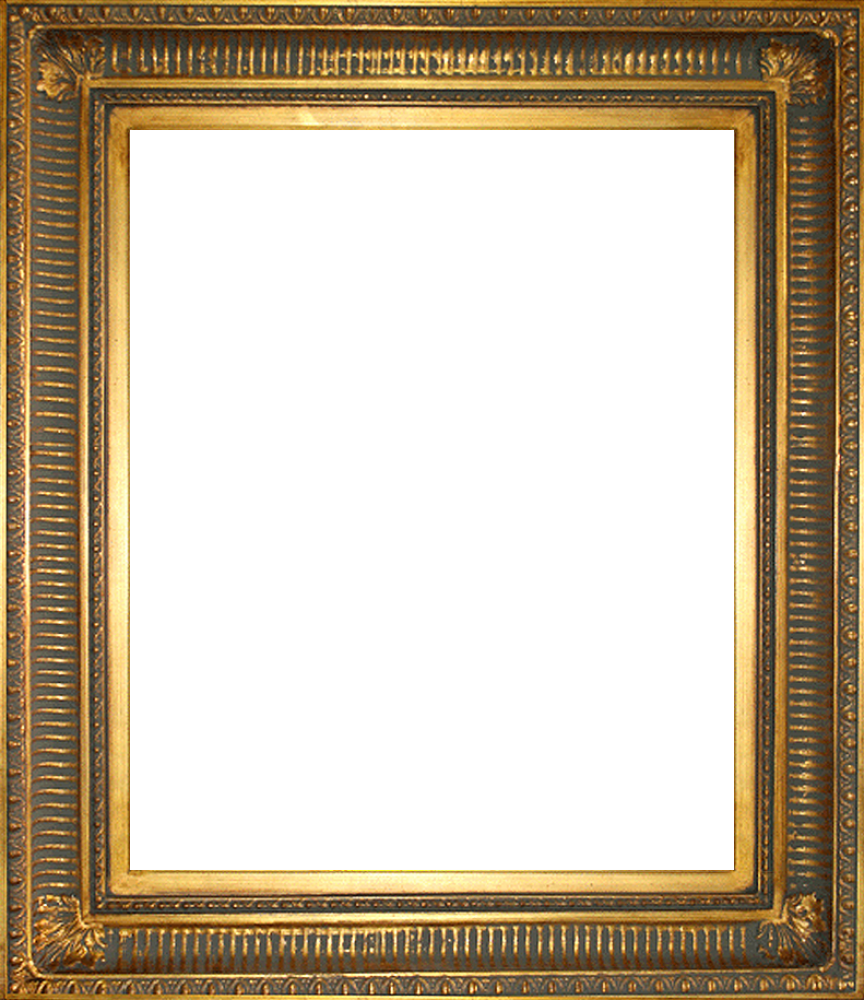 Regal gold canvas art. Painting frame png