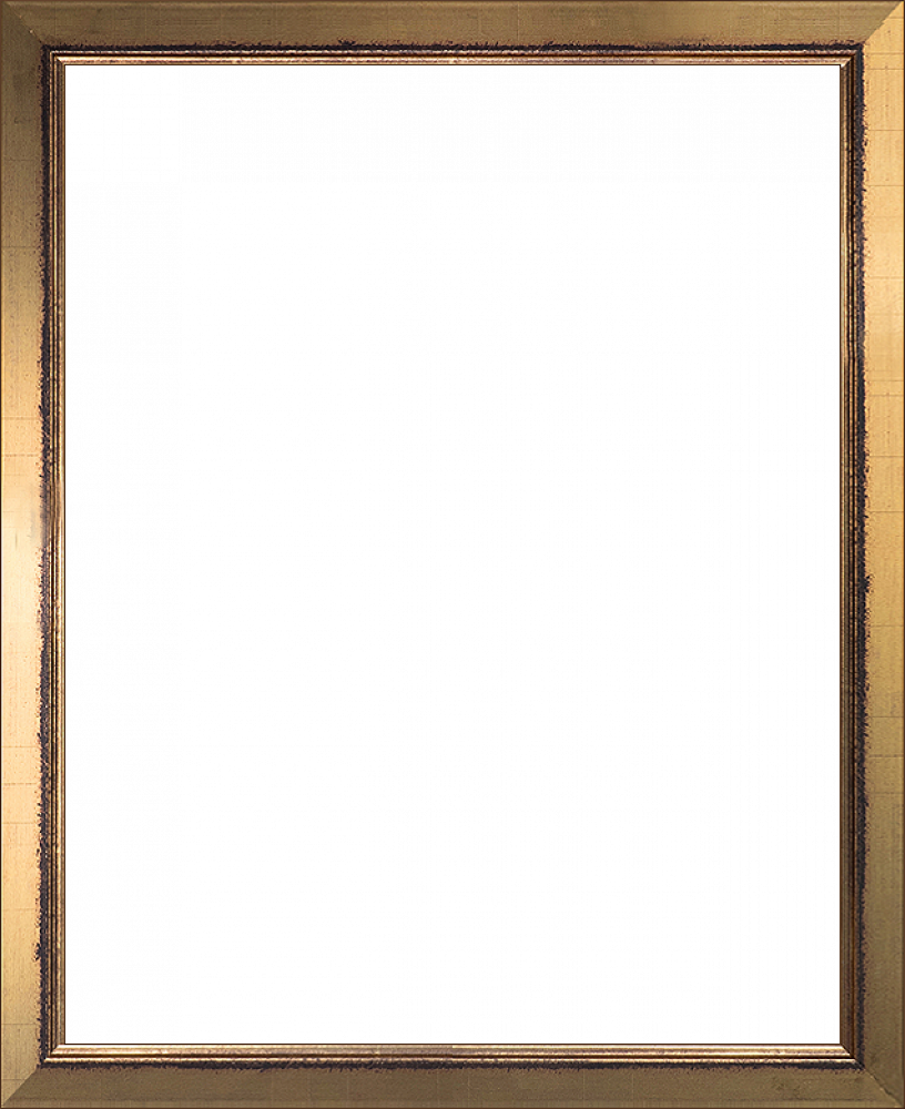 Wall art burnished gold. Painting frame png